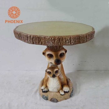 Latest Design Palm Civet Brown Kid Home Round Garden Table