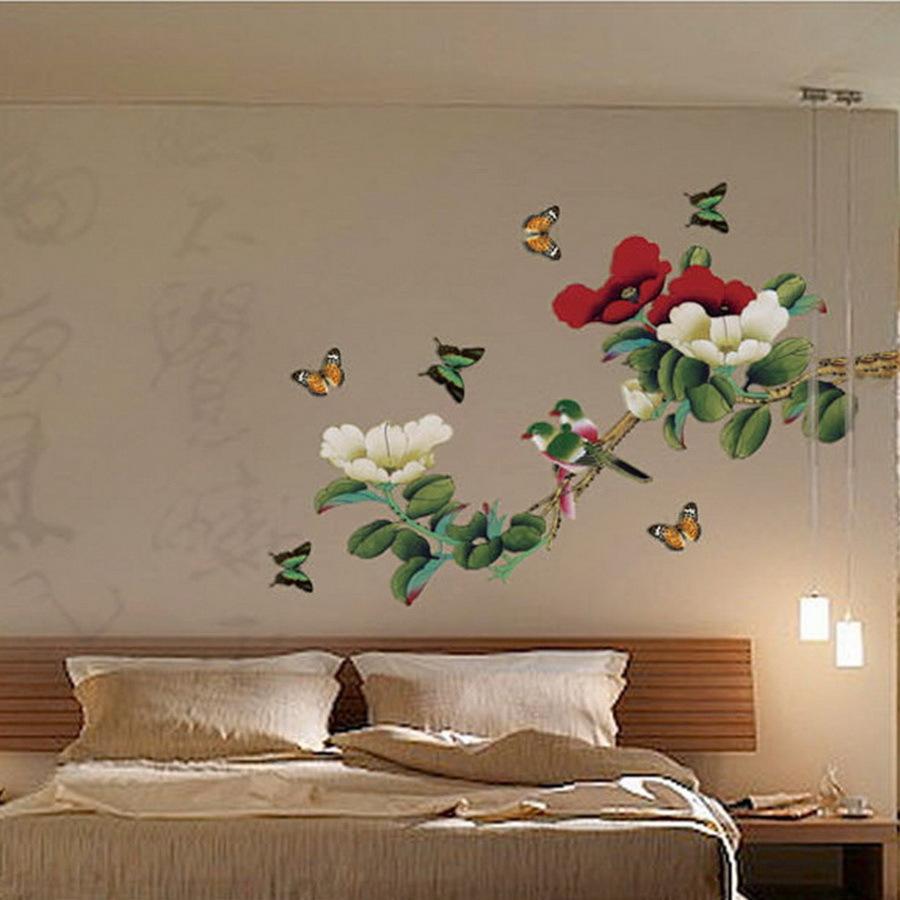 diy wall decor birds home design. Black Bedroom Furniture Sets. Home Design Ideas