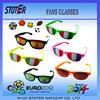 Cheap cheap pinhole glasses ,promotional printed lens sunglasses for party with UV400 lens