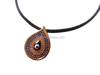 Fashion Black Zircon Eye Choker Necklace