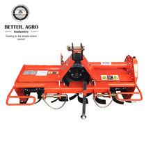 Farm implement tractor mounted rotavator