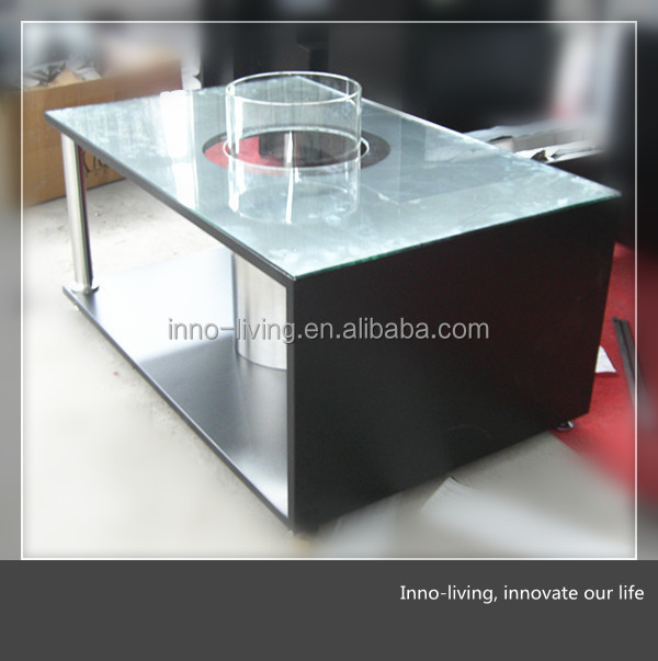 On Sale Outdoor Table With Ethanol Fireplace Insert Buy Outdoor