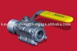 Peep Hole Ball Valve for Blast Furnace