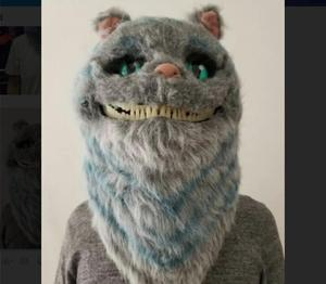 custom headgear animal Mask soft, Realistic Cute Halloween Animal Costume Cosplay cat Headgear for party