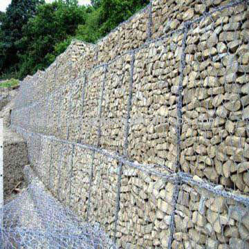 Mobilizable Edge Woven Heavy Gabion Wire Mesh with PVC Coating and 3.0 to 4.0mm Outer Diameters