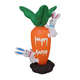 Religious gift airblown couple mini easter bunny climbing giant inflatable carrot