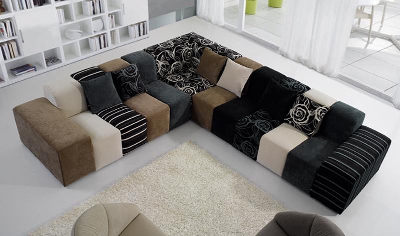 2018 Latest Modular Sofa Design Large Colorful Sectional Set For
