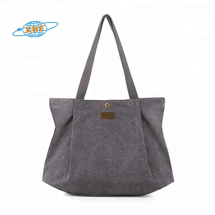 Canvas tote bag for women school work travel and shopping