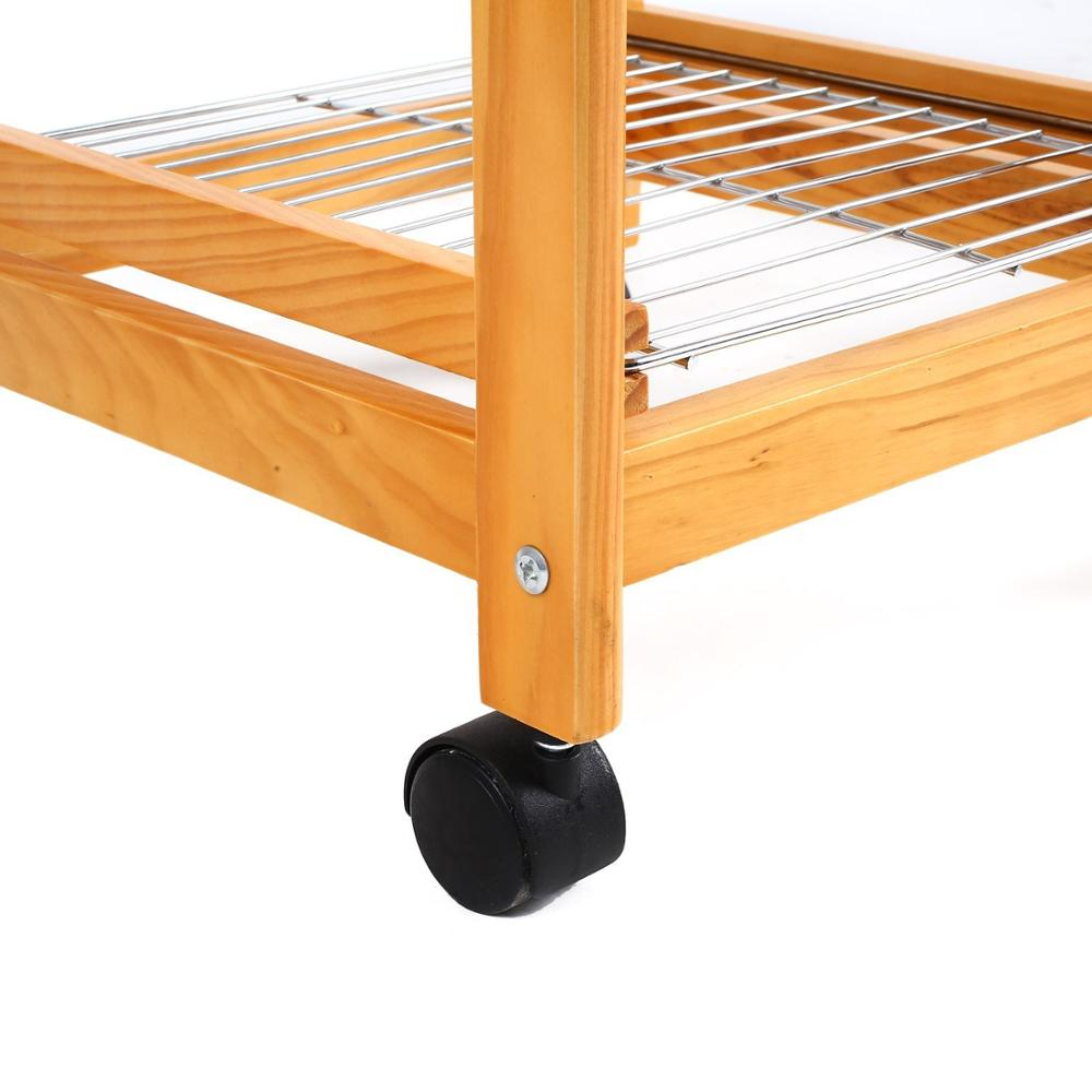 tile top wooden kitchen trolley 5