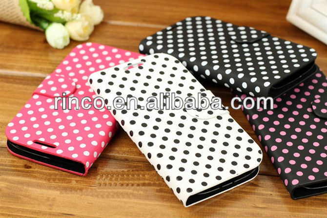 Polka Dot Leather Case Cover Pouch for Samsung Galaxy S3 S III 3 i9300 Case