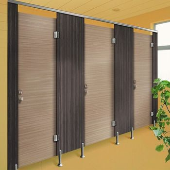 Public Phenolic Used Toilet Bathroom Partitions