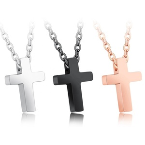 Wholesale Christian Cross Shape Jewelry Chunky Chain Cross Gold Plated Vintage Necklace