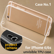 6/6s Flexible Clear TPU Case For Apple Iphone 6/6s Crystal Transparent Cute Phone Cover Fundas Soft Silicone Gel Case 6 S