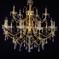 traditional small hardware iron arms modern hotel unique k9 cheap egyprian spiral crystal chandelier pendant light