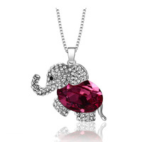 XN4239-fashion xuping jewelry charms animal necklaces accessories made with crystals from Swarovski for women,elephant jewellery
