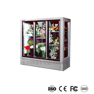 hot sale floral cooler/refrigerator with defrost and wheel