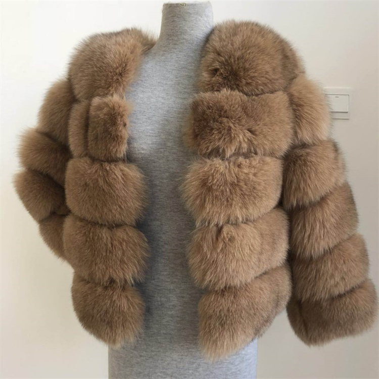 LantianFur High Quality long section Fox Fur Coat / Winter Coats For Women with removeable sleeve and length фото