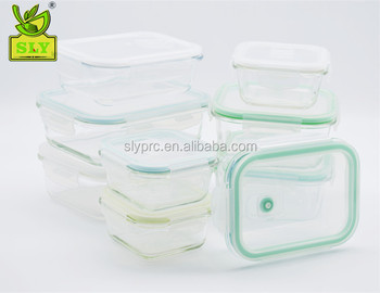 18pcs Glass Food Storage Container Set Bpa Free Use For Kitchen