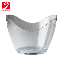 Wholesale extra large acrylic beer ice bucket with handle for wine