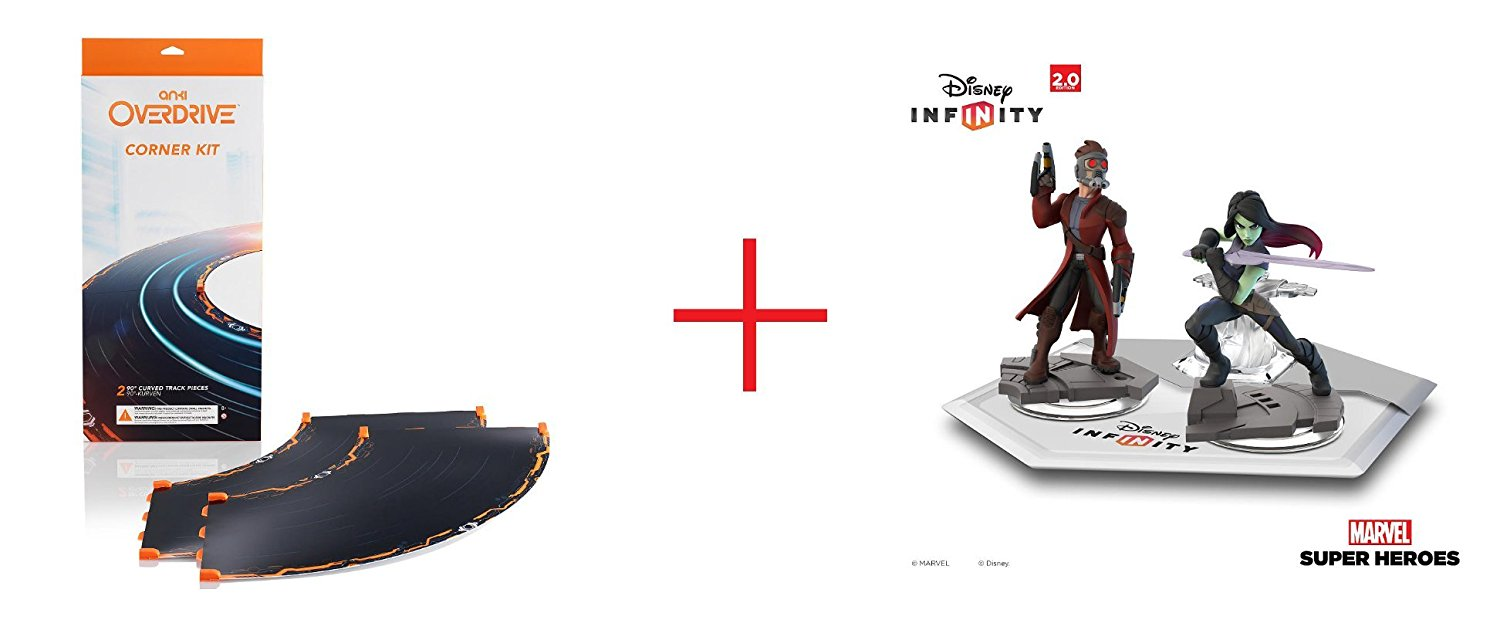 Anki OVERDRIVE Expansion Track Corner Kit and Disney Infinity: Marvel Super Heroes (2.0 Edition) - Marvel's Guardians of the Galaxy Play Set - Bundle