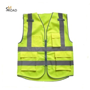 2017 Customized Hi Vis security safety company logo running best reflective vest