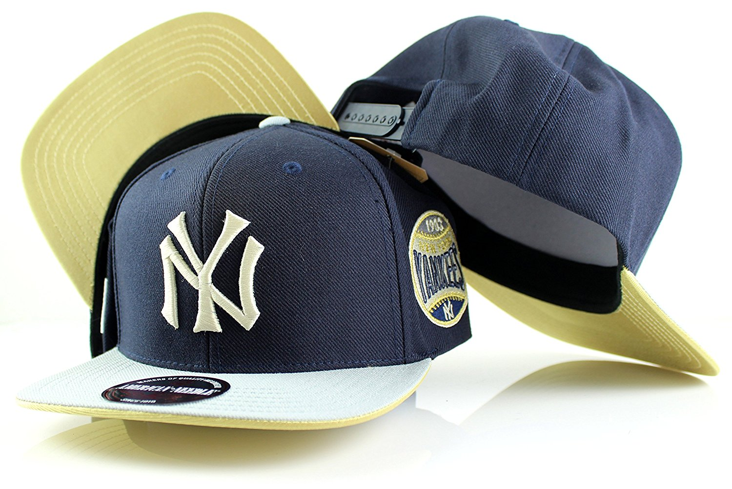 1d86add27b6 Get Quotations · MLB American Needle Limited Edition Chipper Gold Visor  Adjustable Snapback Hat (New York Yankees)