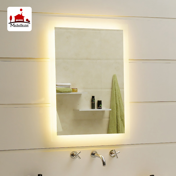 Hot Sell senior LED light anti fog smart bathroom mirror LED Illuminated backlit hotel vanity mirrors