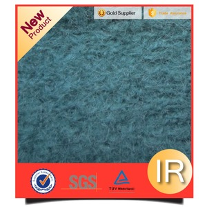 mohair contained plain style knitted wool fabric for autumn/winter garment