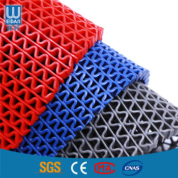 Non Slip Rubber Mat Pvc S Type Anti Slip Mat Roll For