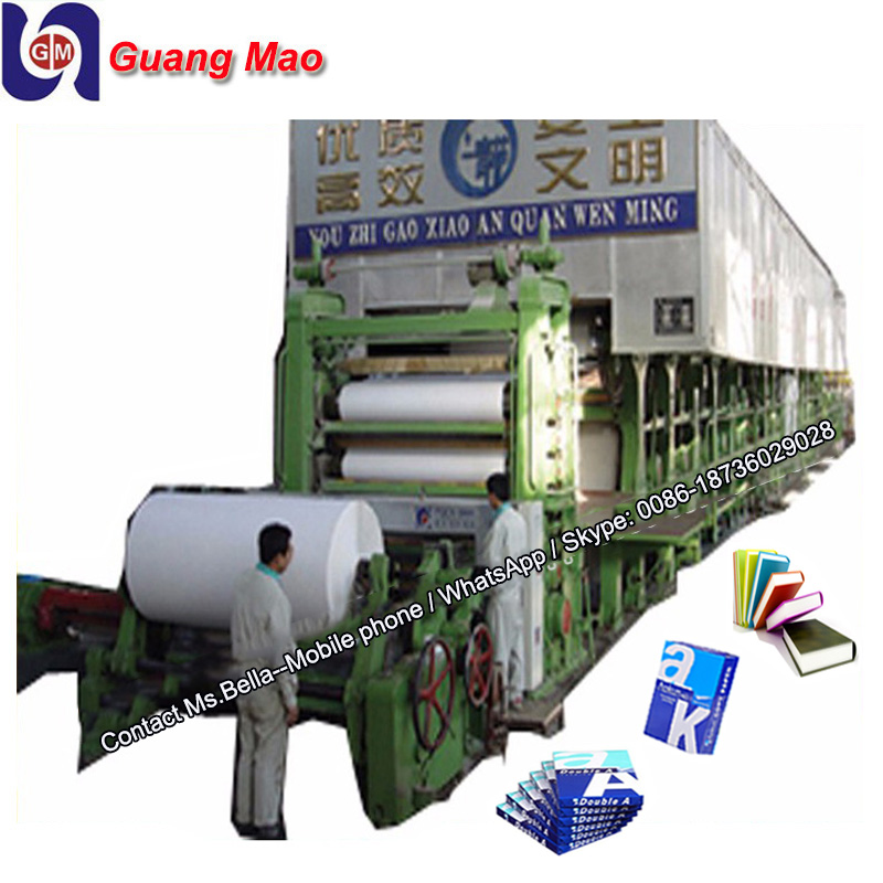 A3 A4 A5 Copy paper making machine whole complete production line. waste paper,rice straw, virgin pulp as raw material