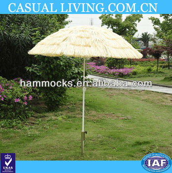 Patio Garden Hawaii Beach Sun Umbrella Sunshade Hawaiian Folding Tilting  Parasol