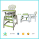EN 14988 Ningbo Dearbebe Wholesale Plastic Toddler Feeding Doll Highchair Baby High Chair Kids Study Table with Chair