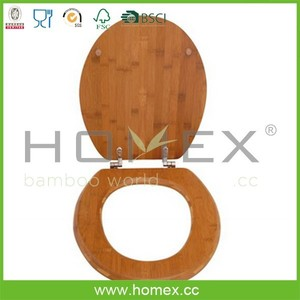 Bamboo Bathroom Toilet Seat/Toilet Cover/Homex_FSC/BSCI Factory