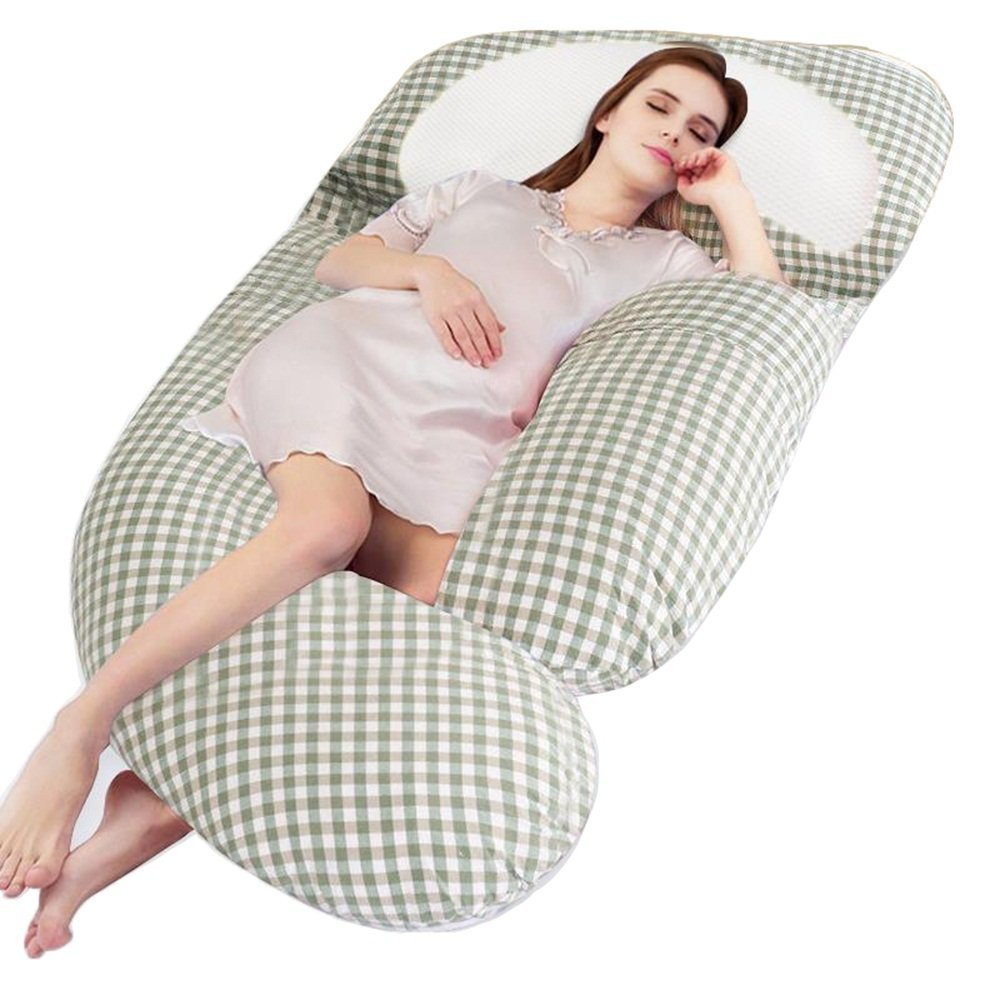 Pregnant women pillow / u pillow / side pregnancy waist sleep pillow bed / multi-functional sleep pillow / side sleep pillow pillow / pillow / ( Color : Green )