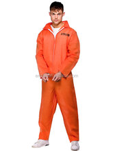 Mens Orange Boiler Setelan Rantai Gang Narapidana Prisoner <span class=keywords><strong>Jumpsuit</strong></span> Fancy Dress Costume BM608