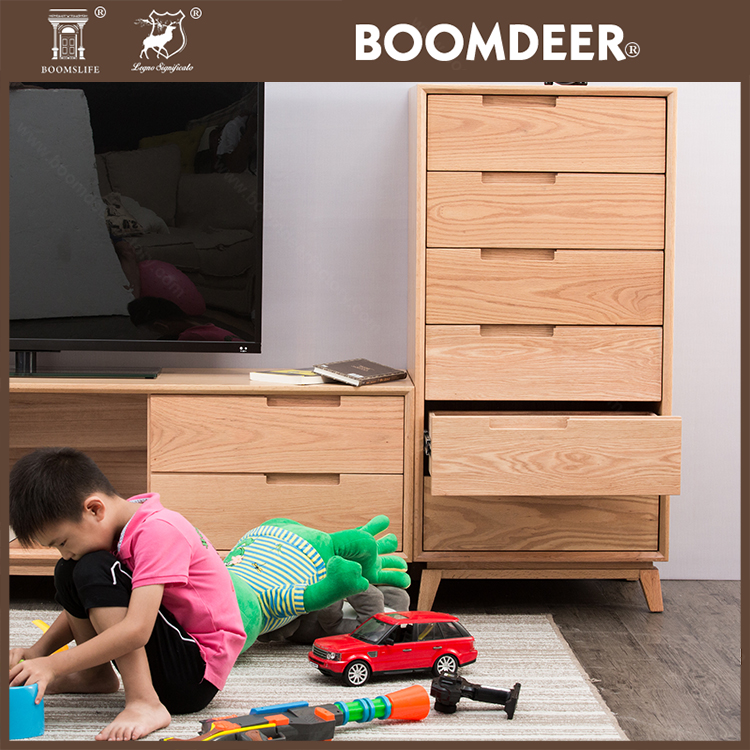 product-6 drawer file cabinetoak wood organizer furniture drawers vertical storage tool cabinet stor-8