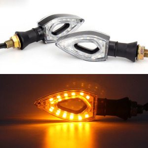 1 Pair Motorcycle Turn Signal Light led Scooter 12 LED T12V Motorbike Turn Light Signal Motorcycle Lamp Flash Waterproof