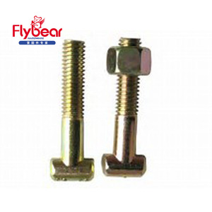 Hot selling T slot bolt for rail Stainless Steel 316/ A4-70 Carbon Steel customized l T head bolt