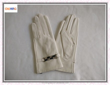 Hot Sale Product Woman Showing Glove White Dress Leather Gloves