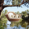round rattan outdoor bed outdoor swing