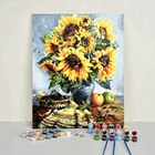 Wholesale Impressionist Still Life Flower Acrylic Paint DIY Painting by Number