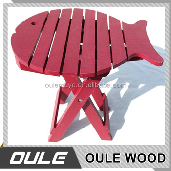 Home Usage Multi Purpose Fish Shaped Wooden Table