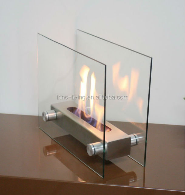 On Sale Two Sided Electric Fireplace Table Top Bio Fireplace