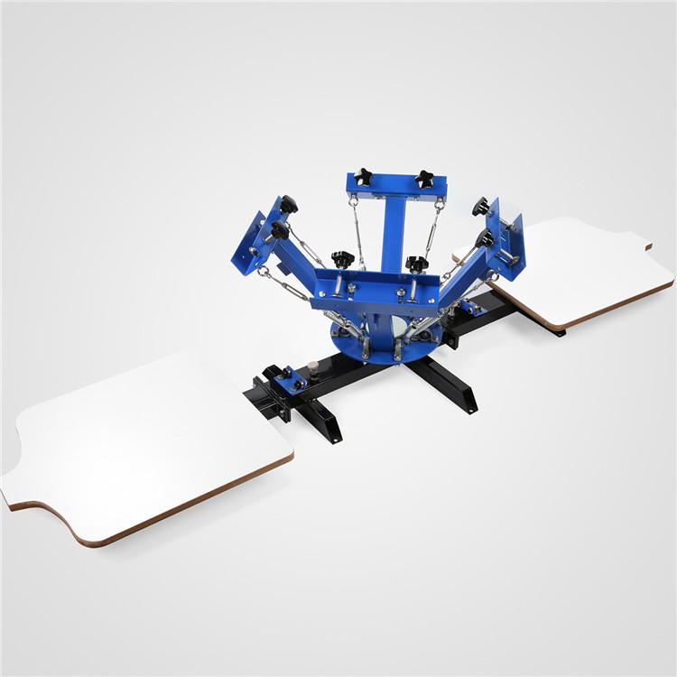 Manual de vendas quente 4 Cor 2 Estação de Serigrafia Silk Screenprint Imprensa Máquina de Impressão Da Tela