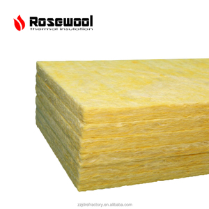 low density building interior wall 25mm thick 32kg/m3 steel glass wool sound insulation