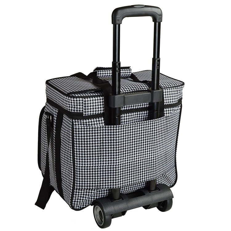 Fashion Outdoor Picnic Cooler Bag On Wheels, Cooler Bag With Wheels