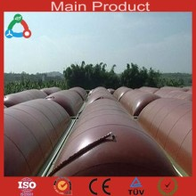 Pig / Chicken Farm Biogas System Long Lifespan Soft Collapsible 500m3 Storage Tank