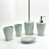 Ceramic Liquid Soap Dispenser&Toothbrush Holder