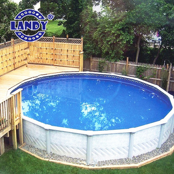 12 15 24 foot 18 ft 27 ft pvc round above ground for Plastik pool rund