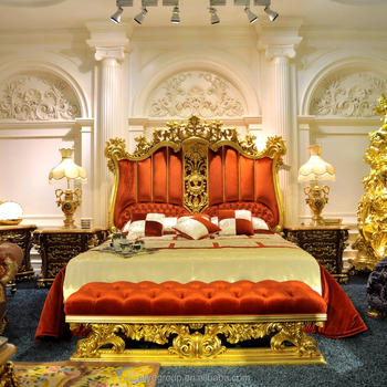 lp05 luxury bedroom furniture italy style gold plated antique bedroom furniture set moq - Luxury Bedroom Sets Italy